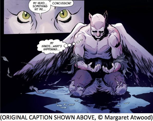 Captioning Angel Catbird